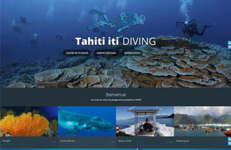 Site web Tahiti Iti Diving