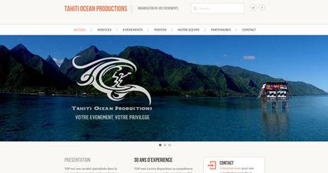 Site web Tahiti Ocean Production